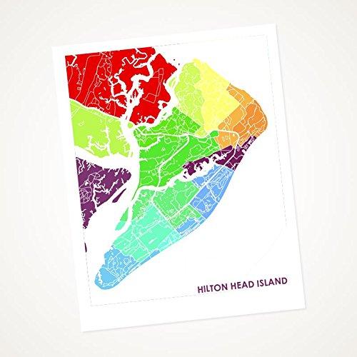 Hilton Head Island South Carolina Map.Amazon Com Hilton Head Island South Carolina Art Map Print Choose