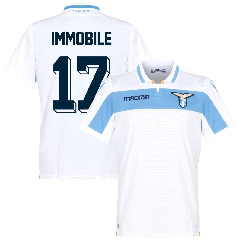 Lazio Away Trikot 2018 2019 + Immobile 17 (Fan Style)