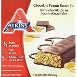 Atkins Advantage Bars, Chocolaty Peanut Butter, 5 Count