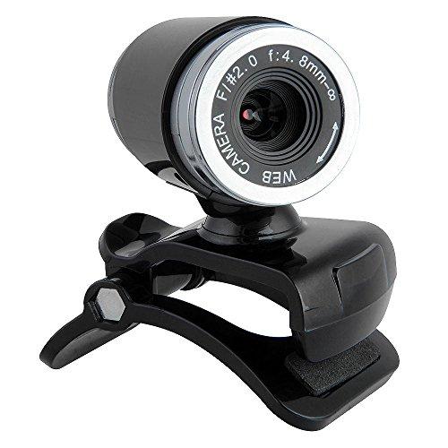 fitTek® USB 50MP Webcam Web Cam Kamera mit MIC für Desktop PC Laptop Winkeleinstellbar