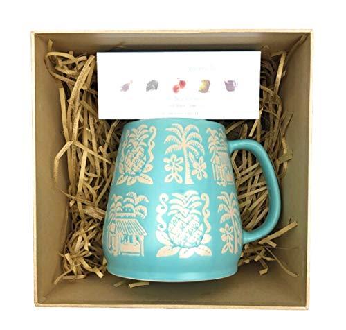 (Stoneware 24oz Mug With Tea Sampler Set! Stoneware Mallorca Mug 24oz Opalhouse Revolution Variety Tea Sampler! Drink Taste Flavorful Teas Earl Grey Lavender, Tropical Green, White Pear, Sweet Ginger!)