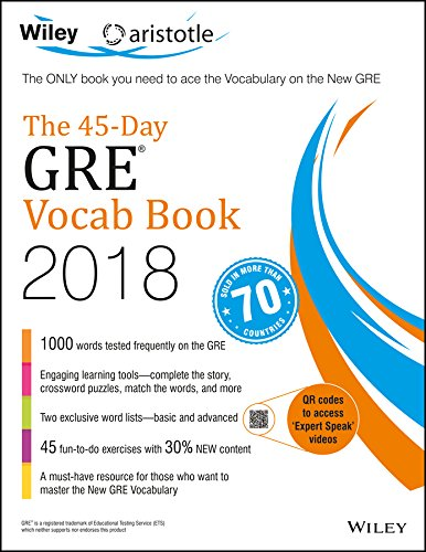 Wiley Aristotle the 45-Day GRE Vocab Book 2018