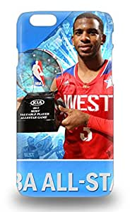 Fashion Protective NBA Los Angeles Clippers Chris Paul #3 Case Cover For Iphone 6 3D PC Soft Case