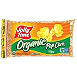 Jolly Time Organic Yellow Popcorn Kernels Non-GMO and Gluten Free, 20 Ounce Bags (Pack of 3) For Sale