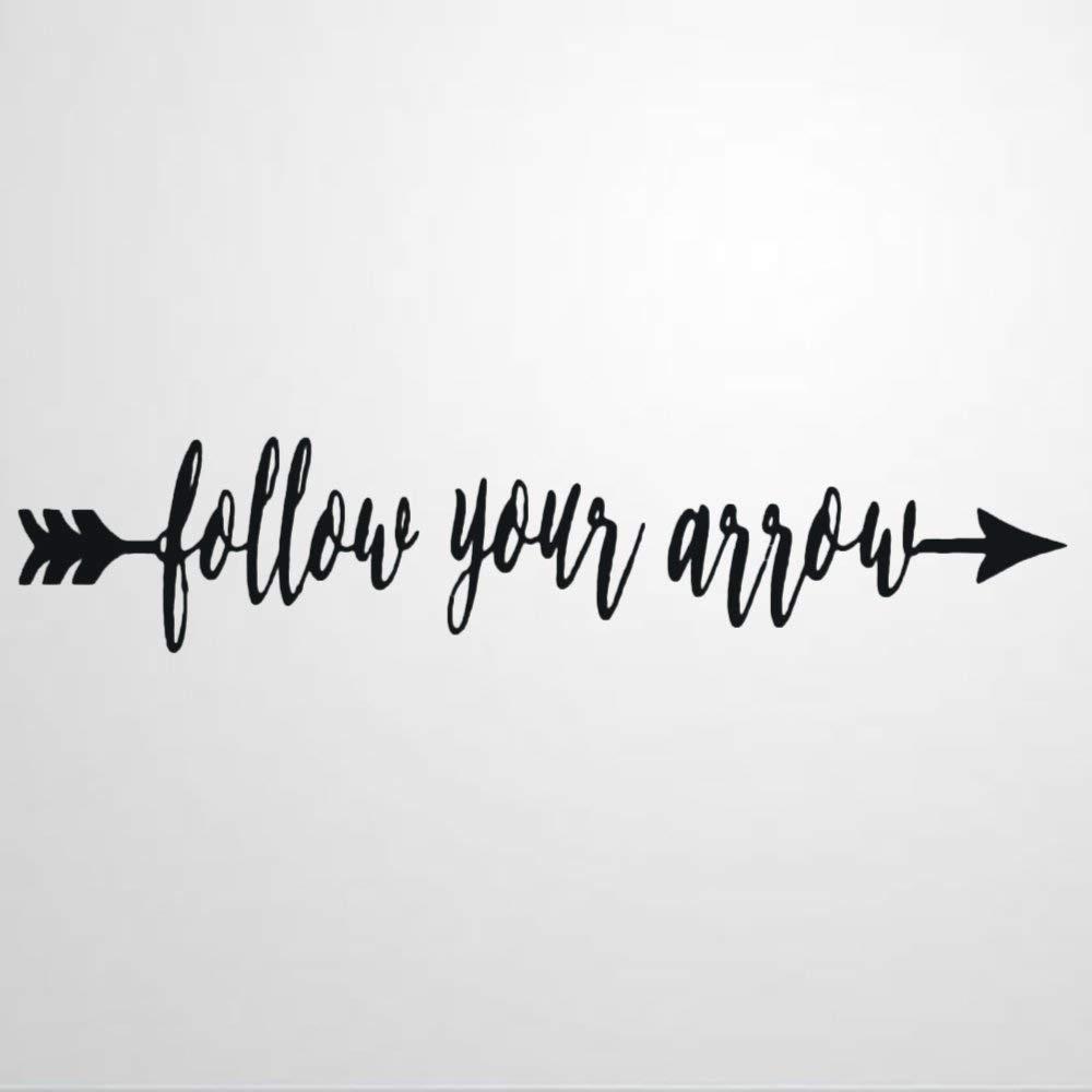 Follow Your Arrow Wall Sticker,Motivational Quote Vinyl Wall Decal,Decor for Windows,Living Room,Bumper,Laptop,Tumbler,Bathroom Home Decor