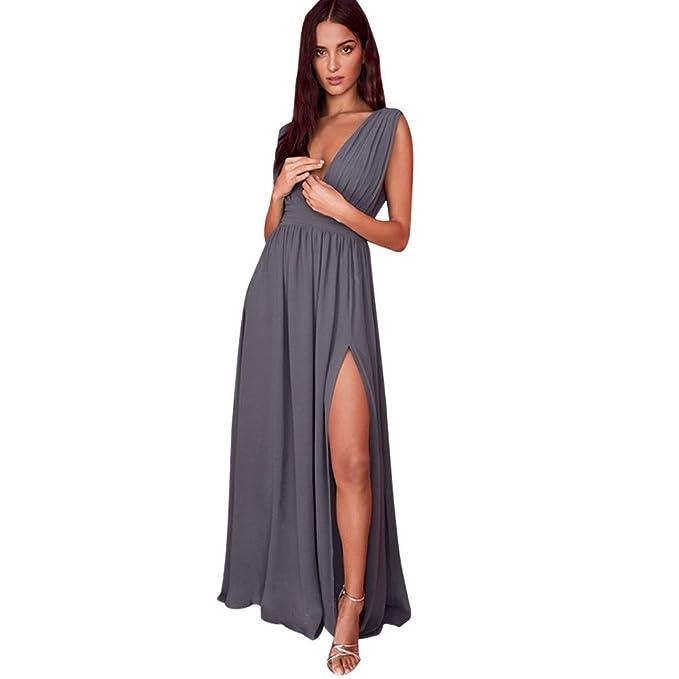 Keepwin Vestido Elegante De Boda Fiesta CóCtel para Mujer Dama De Honor Vestido Largo Verano (
