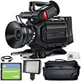 Blackmagic Design URSA Mini 4.6K Digital Cinema Camera (EF-Mount) 6PC Accessory Bundle – Includes 64GB Compact Flash Card, HDMI Cable, 160 LED Video Light, Microfiber Cleaning Cloth