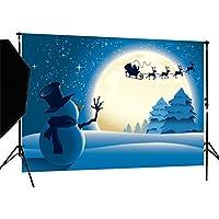 DULUDA 7X5FT Christmas Santa Snowman Vinyl Customized Photography Backdrop Background studio prop XM21A