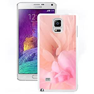 Fashionable And Unique Designed Cover Case For Samsung Galaxy Note 4 N910A N910T N910P N910V N910R4 With Blooming Pink Flower_White Phone Case
