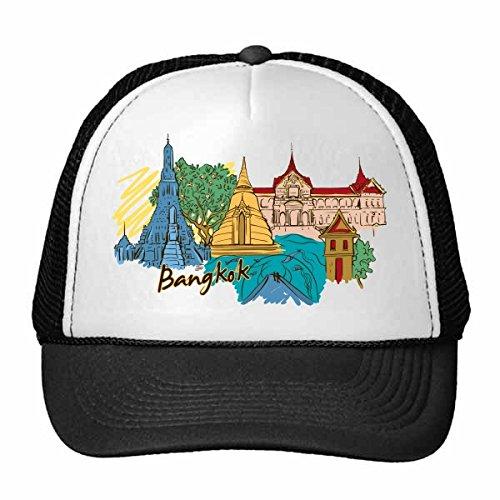 thailand-bangkok-wat-arun-the-royal-palace-watercolor-trucker-hat-baseball-cap-nylon-mesh-hat-cool-c