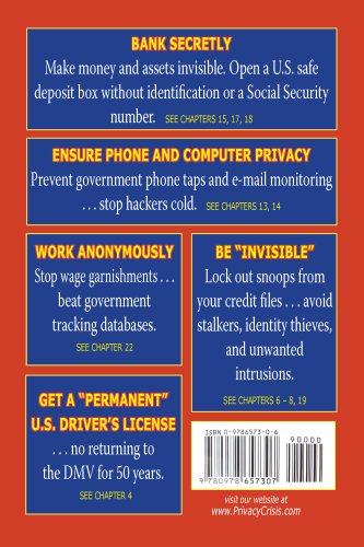 Privacy Crisis: Identity Theft Prevention Plan and Guide to Anonymous Living