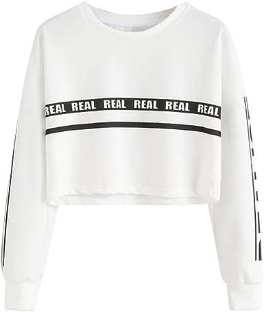 Mujer Levifun Moda Otoño E Invierno Casual Bufanda Cuello Rayas Manga Larga Bolsillo con Cordón Suéter Superior Sudadera Camisa Pullover Elegantes Camiseta Tops: Amazon.es: Ropa y accesorios