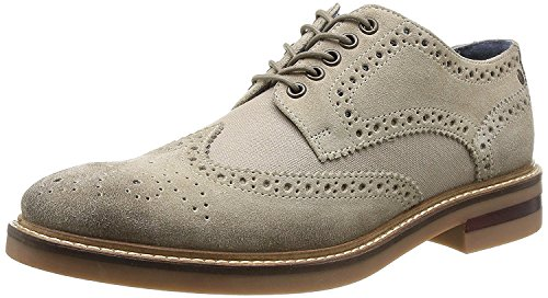 Base London Oxford Derby Brogue Range of Mens Formal and Informal Leather Lace-UPS Black and Brown Woburn-Sand