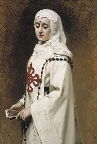Oil Painting 'Madrazo Y Garreta Raimundo De The Actress Maria Guerrero As Dona Ines Ca. 1891' 8 x 12 inch / 20 x 30 cm , on High Definition HD - Brands Myer Exclusive