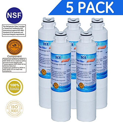 Price comparison product image Icepure RWF0700A Refrigerator Water Filter Compatible with Samsung DA2900020B, DA2900020A 5PACK