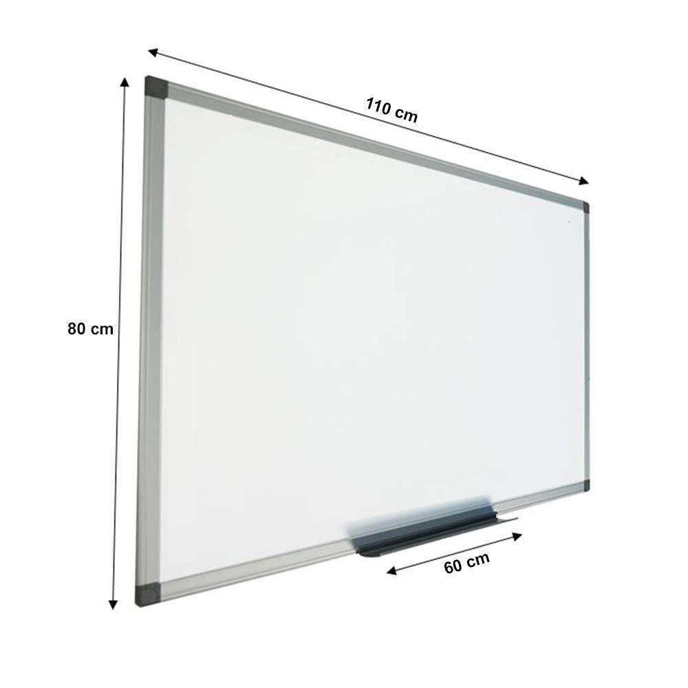 Magnetica Lavagna bianca con sitema di montaggio a parete 90x120 cm