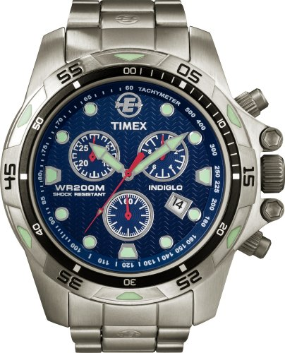 Timex Men's 'Expedition Dive Style' Quartz Stainless Steel Casual Watch, Color:Blue Dial (Model: T49799)