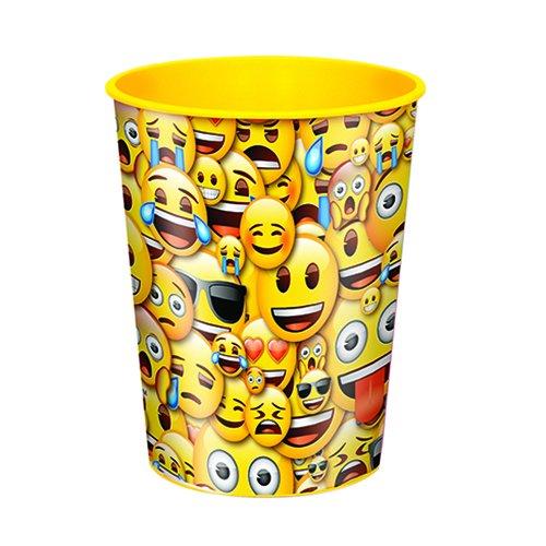 16oz Smile Emoji Plastic Cup