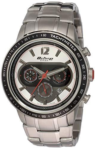 Titan Octane Signature Analog Silver Dial Men #39;s Watch 1762KM01 / 1762KM01