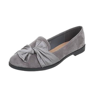Zapatos para mujer Mocasines Tacón ancho Slipper Gris Tamaño 38: Amazon.es: Zapatos y complementos