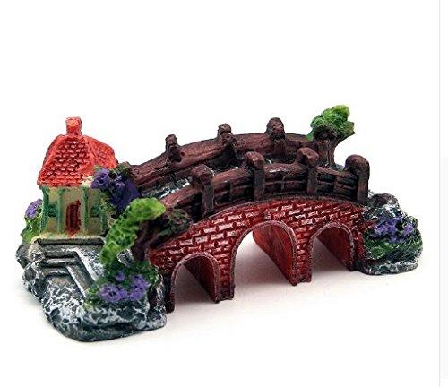 Small Chinese Style Bridge Aquarium Resin Fish Tank Decorations Ornament