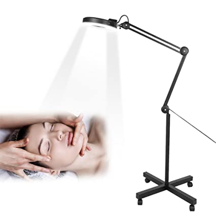 Lupa LED de 5 aumentos, multifunción, ajustable, para cuidado de ...