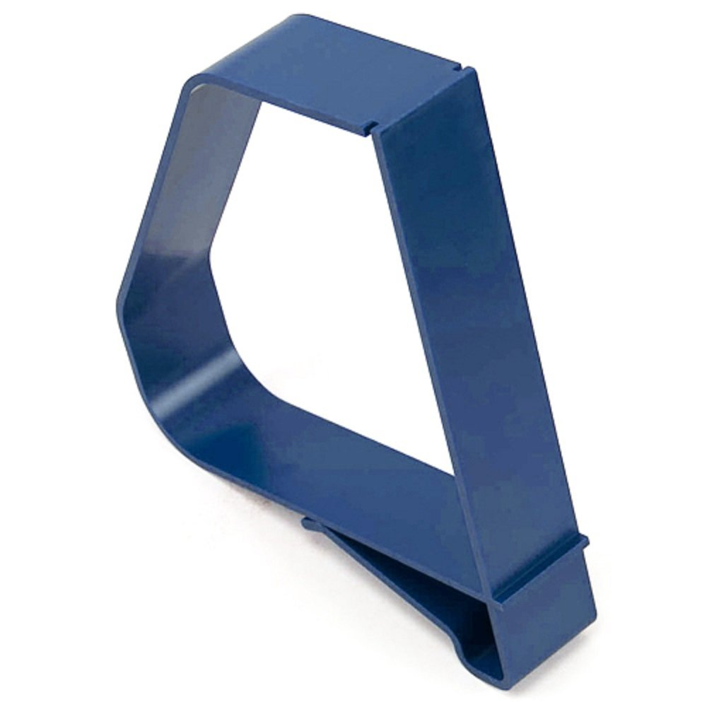 Clip-On Plastic Book Supports with Label Holders 6 1/2 inch - 5/Pk - Blue