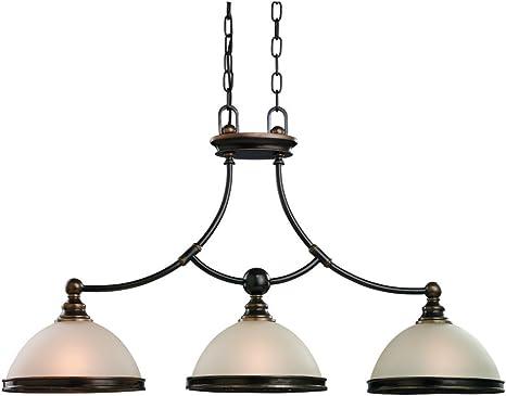 Sea Gull Lighting 66330-825 3-Light Warwick Vintage Bronze Island Pendant