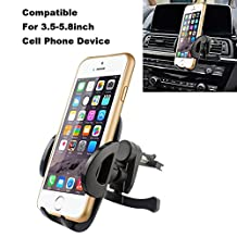 Car Mount, Kainnt Universal Car Air Vent Mount Holder/Cradle-Compatible with All Smartphones,including Apple iPhone 7/7Plus/6/6Plus/6s/6splus/5S/5C/5/4S/4- Samsung Galaxy S3, S4, S5,S6-Note 2,3,4,5 - LG, G -Motorola Moto X Droid HTC One, Nexus 5 and all 3.5-5.8inch Device