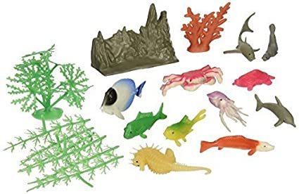 20 Piece Everready First Aid UST4245 US Toy Assorted Ocean Animal and Plant Play Set