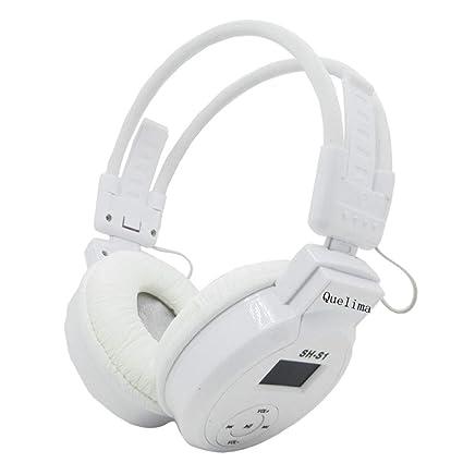 Sencillo Vida Auriculares Deportivos inalámbricos, Cancelación de Ruido, Auriculares Estéreo Plegable, Support TF