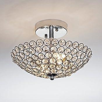 POPILION Superior Quality Ceiling Crystal Chandelier Light, Bedroom ...