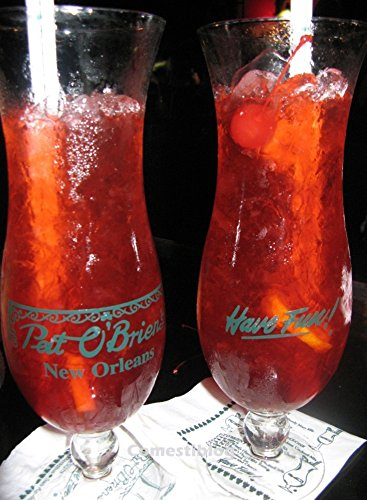 Pat O' Brien's New Orleans Hurricane Glass Have Fun Drinking Glass Collectible Pat O' Brien's