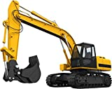 """12"""" Tractor Excavator #1 Wall Sticker Decal Graphic Art Childrens Toy Play Room Heavy Machinery Outdoors Game Man Cave Bedroom Office Living Room Decor NEW"""