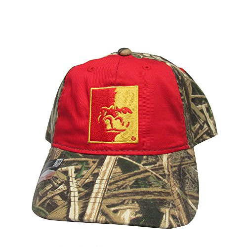 (Rob'sTees Pittsburg State Gorillas Red/Camo College Team Black Snap Back Hat Cap )