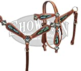 Showman LIMITED EDITION '' Running Free'' headstall and breast collar set