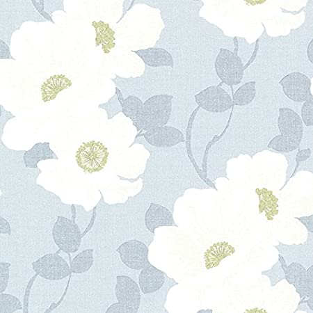 BHF 2614 21050 Leala Light Blue Modern Floral Wallpaper