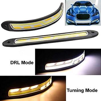 Heinmo 2 St/ück Flexible High Power 6 W 12 V Cob LED DRL Tagfahrlicht Fahrlicht Tagfahrlicht mit Blinker Licht f/ür Auto Fahrzeug Universal Wasserdicht IP67