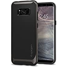 Spigen Neo Hybrid Galaxy S8 Case Herringbone with Flexible Inner Protection and Reinforced Hard Bumper Frame for Samsung Galaxy S8 (2017) - Gunmetal