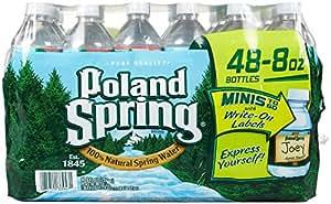 Poland Springs Original Water, 8 Ounce - 48 per case.