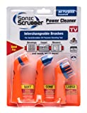 All Purpose Sonic Scrubber Power Cleaner Interchangeable Brushes