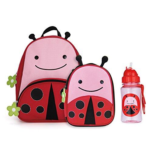 Bag Lunch Hop Skip (Skip Hop Zoo Backpack, Lunchie, and Bottle Set - Ladybug)