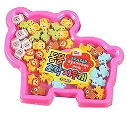 Set Of 2 Animal Stationery Gift Eraser Eraser Prizes Random Color