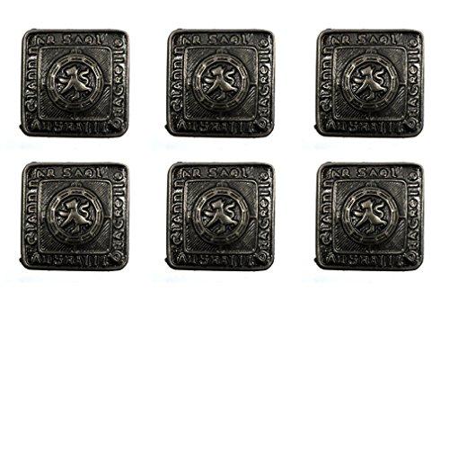 New Kilt Bundle of 6 Antique Finish Prince Charlie/Argyll Jacket Button - - Kilt Prince Charlie
