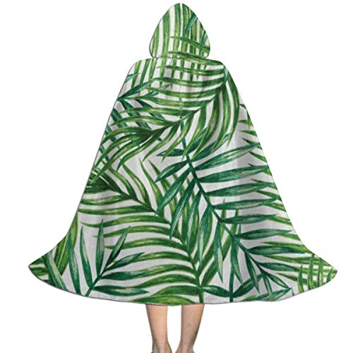 Perfectly Customized Halloween Cosplay Costumes Palm Tree Leaves Kids Hooded Cloak Cape ()