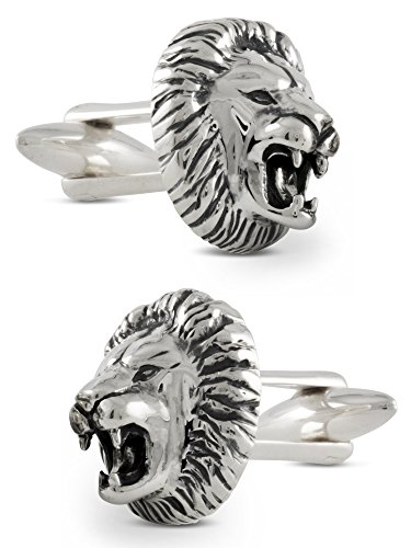 ZAUNICK Lion Cufflinks Sterling Silver by ZAUNICK