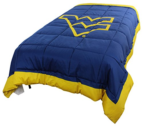 College Covers West Virginia Mountaineers 2 Sided Reversible Comforter, Full