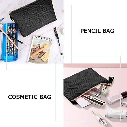 Small Cosmetic Bag,BAGSMART Makeup Bag,2 Pcs Cosmetic Pouch for Purse,Travel Pouch for Makeup Brushes Lipsticks…