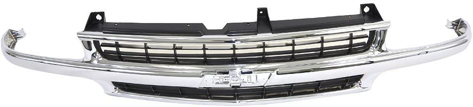 Perfit Liner New Front Chrome Black Grille Grill Replacement For 00-06 Chevy Chevrolet Tahoe Suburban 1500 2500 SUV Fits GM1200442 88968934