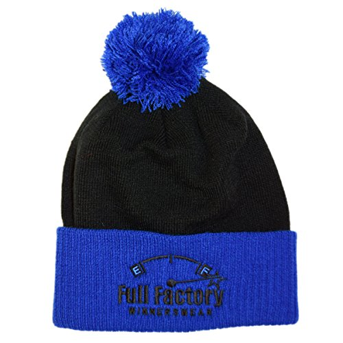 Full Factory Winnerswear - Gorro de punto - para hombre Negro negro y azul Talla única